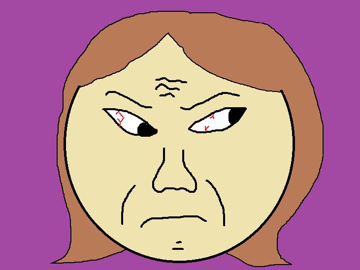 性格の悪い女の顔